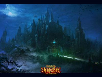 女巫古堡背景素材