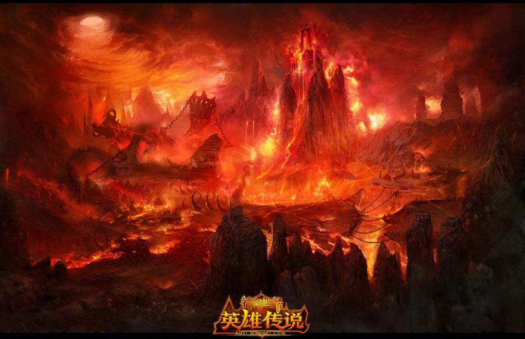 游戏背景手绘红色